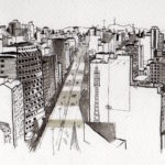 Urban sketch by Zamira Duque